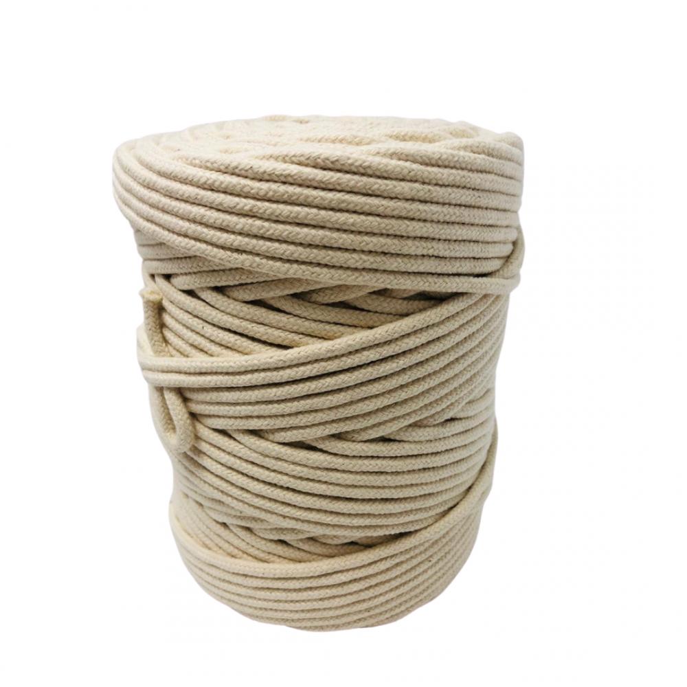 Corda Algodão Vivo Cru   4,0 MM - RL 1,0 KG 100% algodão.    100 metros