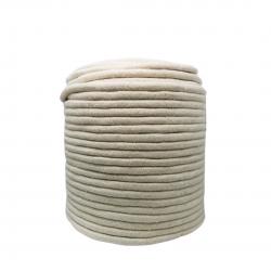 Corda Algodão Vivo Cru 14,0 mm Rolo com  220 metros