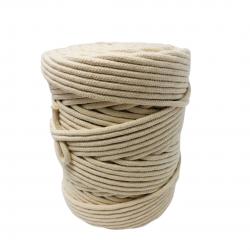 Corda Algodão Vivo Cru  4,0 mm - RL 1,0 Kg Rolo com  100 metros