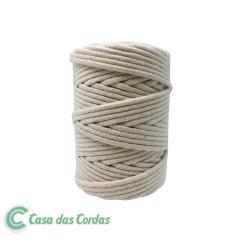 Corda Algodão Vivo Cru  5,0 mm - RL 1,0 Kg Rolo com  70 metros