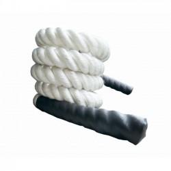 Corda Para CrossFit - Com 10 metros BRANCA - Poliéster Torcido de 38 mm