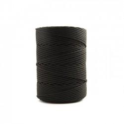 Corda Poliéster Trançada Preta  1,5 mm - RL 1,0 Kg