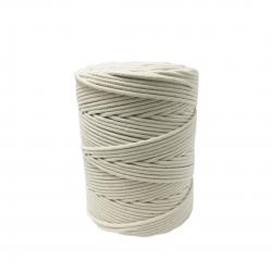 Corda Algodão Vivo Cru  3,0 mm - RL 1,0 Kg - Rolo com 200 metros