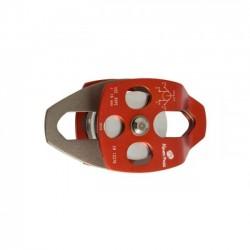 Polia Dupla de Alumínio Placas Oscilante P/ Corda de Até 16 mm 24 KN Alpen Pass